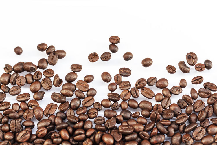 Backgrounds Coffe Beans Coffeebeans Large Group Of Objects Neat Studio Shot White Background