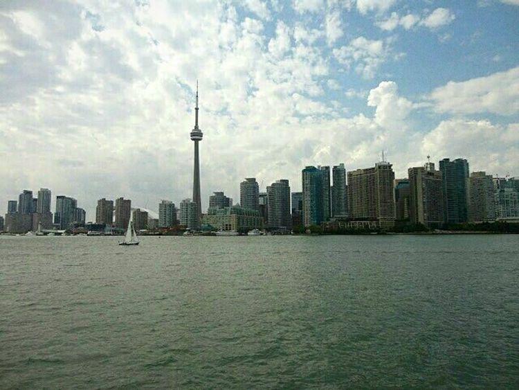 Toronto Canada Cntower Boattrip Lake View Cityscapes