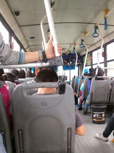 In another bus, tripping!! Inside Vehicle Hanging Out Bus Inside Visit Cuenca Travel Photography Wierd Shot Bus People Trip Photo