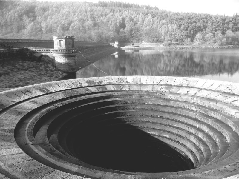 Lady Bower Reservoir derbyshire England ✝ water Calm dam