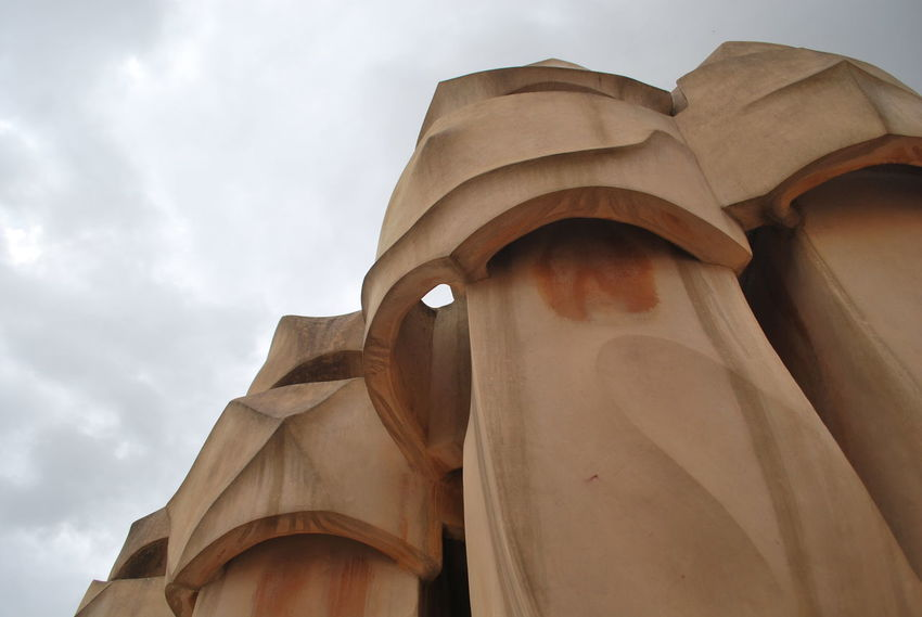 Architecture Barcelona Barcelona, Spain Building Exterior Casa Mila ( La Pedrera ) Casa Milà Gaudì City Cloud - Sky Day Gaudi Low Angle View No People Outdoors Roof Rooftop Sky SPAIN Statue Travel Destinations
