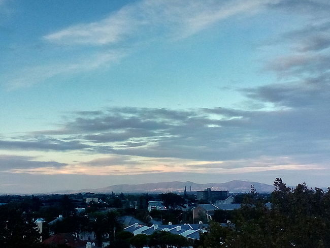 Early Sunset City Sunset Blue Cityscape
