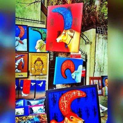 Chitrasanthe Art Streetart Holycow Instapic Picoftheday Creative India