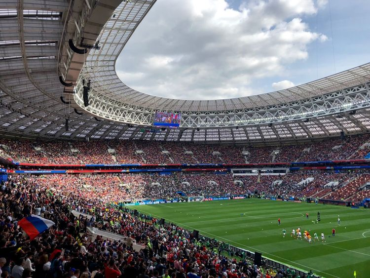 It is such a great event! Event FIFA World Cup Russia FIFA World Cup Of 2018 Football Luzhniki Moscow Russia Russia 2018 Stadium Architecture Built Structure Crowd Fifa World Cup Fifa2018 Football Stadium Group Of People Large Group Of People Russia2018 Russian Flag Soccer Spectator Sport Stadium World Cup World Cup 2018 World Cup 2018