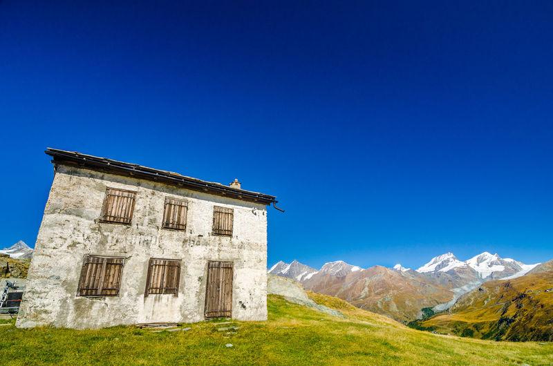 House on mountain at zermatt