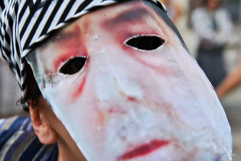 Affliction Close-up EyeEmNewHere False Human Eye Human Face Lifestyles Mask Maskquerade Multi Colored Mummers Mummers Parade Mummery One Person Protest Red Red Lips Request Sad Sadness Sorrow Spooky Uniqueness EyeEm Diversity TCPM The Portraitist - 2017 EyeEm Awards