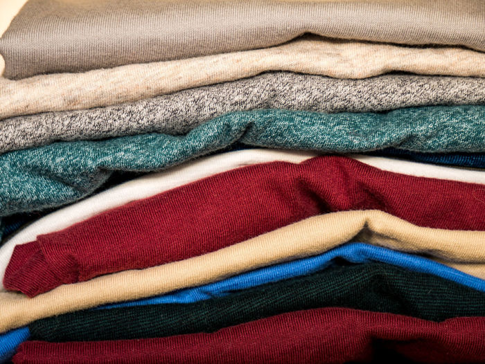 T-Shirts Textile Multi Colored Close-up Indoors  Towel Variation No People Stack Clothing Choice Full Frame Folded Blue Backgrounds Softness Retail  Group Of Objects Blanket Pattern Material Clean Garment Luxury First Eyeem Photo EyeEm 17.62°