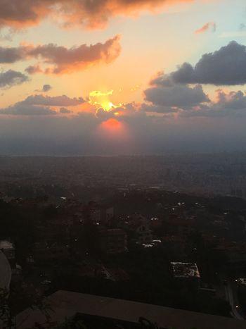 Stunning sunset now