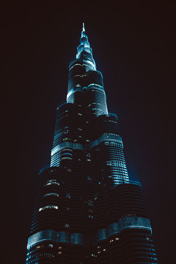 Burj Khalifa Cityscape Dubai Sightseeing Architecture Building Building Exterior Built Structure Burj Khalifa City Financial District  Illuminated Low Angle View Modern Night No People Office Office Building Exterior Place Of Worship Sky Skyscraper Spire  Tall - High Tourism Tower Travel Travel Destinations