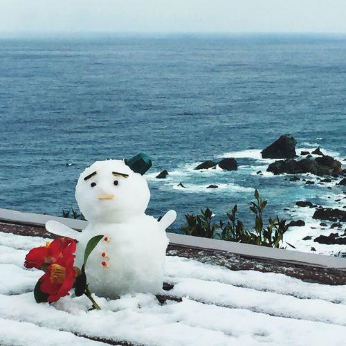朝起きたら雪が積もってた♡ Snowman Pretty♡ Japan Fukui