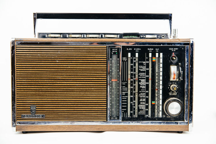 Classic Old Fashioned Radio Retro Sound Close-up Day Grundig No People Old Old-fashioned Retro Style Retro Styled Technology Vintage Weltempfänger White Background Wooden