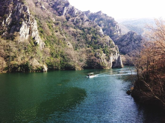 Tree Nature Water Scenics Beauty In Nature Nautical Vessel Outdoors Transportation Day No People Sea Mountain Matka Canyon Macedonia
