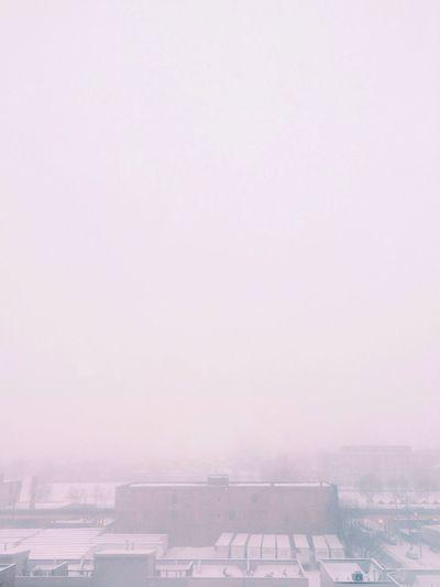 """""""My poor eyesight"""" Winter White By CanvasPop Urban Landscape Chicago Winter"""