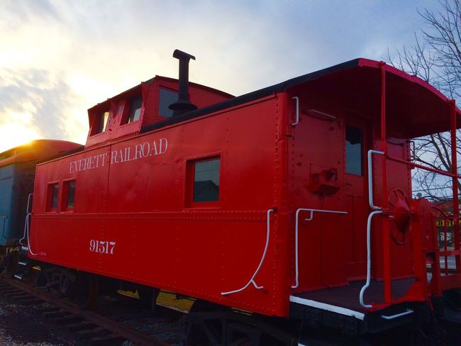 Everett Railroad. Check This Out Hello World Everett Traveling Train Station Train Sunset Red Relaxing Happiness Train Tracks