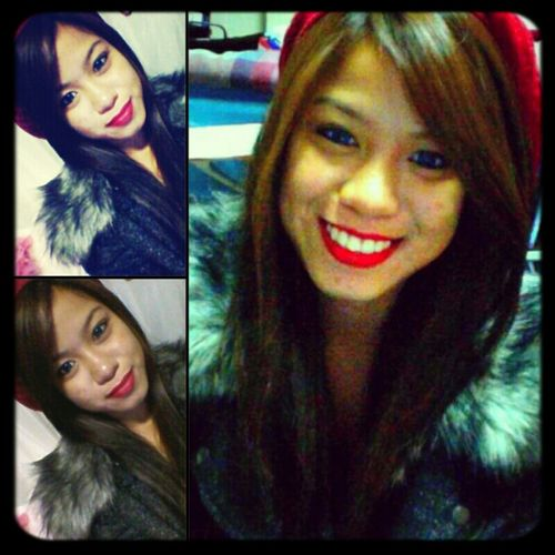 That red lipstick tho! mac#1 XD