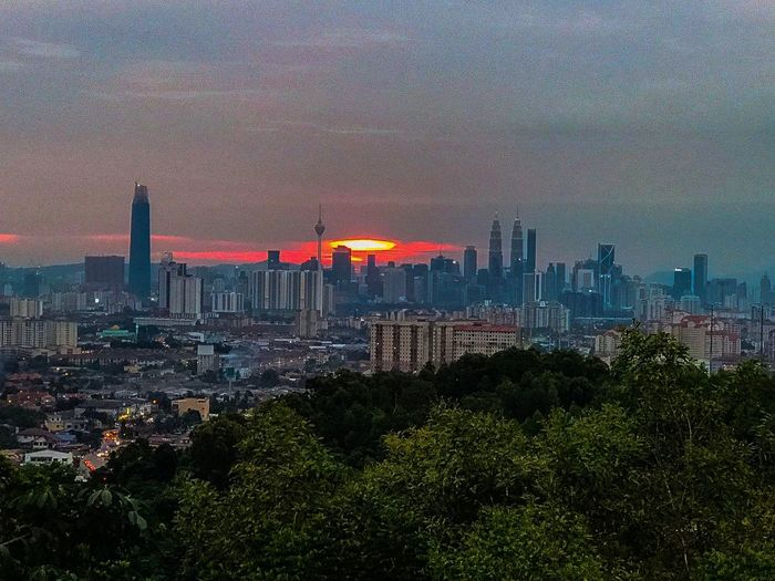 Sunset at Ampang hills Sunset_collection Sunset Architecture Building Exterior Built Structure City Cityscape Building Sky Urban Skyline Skyscraper No People Landscape Nature Tall - High Outdoors High Angle View