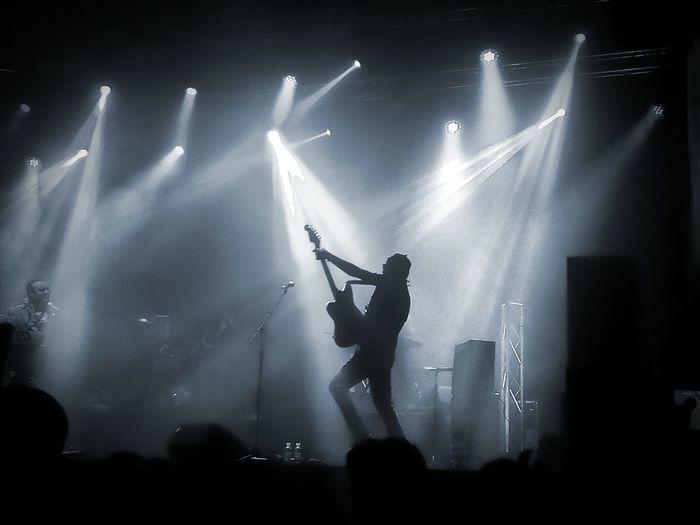 Musician performing at nightclub