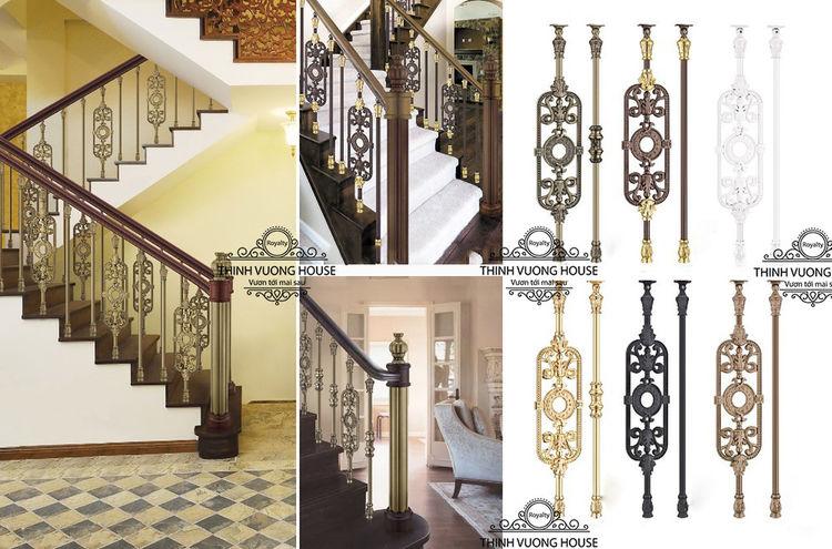 Với hoạ tiết sang trọng và độc đáo cầu thang nhôm đúc con tiện nghệ thuật tạo cho ngôi nhà bạn vẻ đẹp tráng lệ, quý phái và mang lại nhiều may mắn. http://thinhvuonghouse.com/san-pham/cau-thang-nhom-duc-sang-trong-va-doc-dao Cau Thang Nhom Duc
