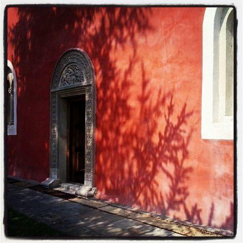 Zica Srbija Serbia Monastery red architecture church