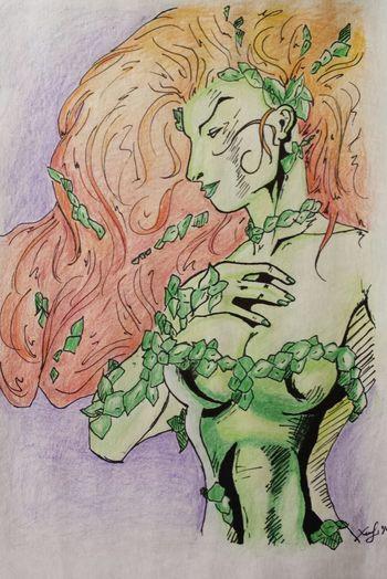 Drawing Poison Ivy DC Comics