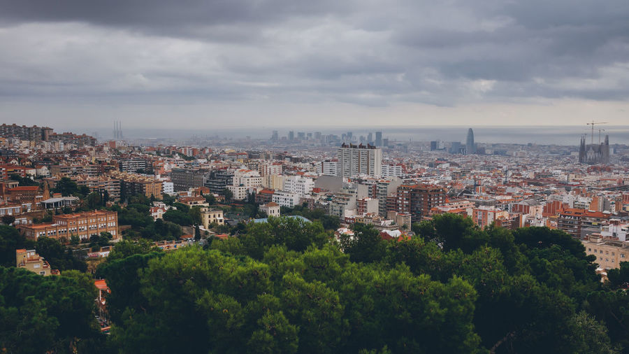A view to Barcelona, Catalonia, Spain Architecture Barcelona Catalonia Catalunya City City Life City Life Cityscape Cityscape Human Settlement Landscape Overcast Residential Building Residential District Sky SPAIN Travel Destinations Urban Urban Design Urban Geometry Urban Landscape Weather