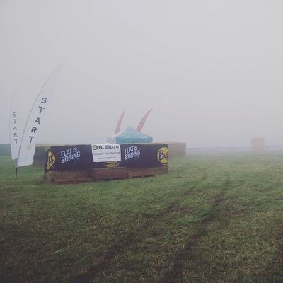 Near Buxton for Bog Commander - freezing, can't see much and it's blowing a gale... Perfect! Bogcommander Ocr Muddyrace Obstaclecourseracing Icebug
