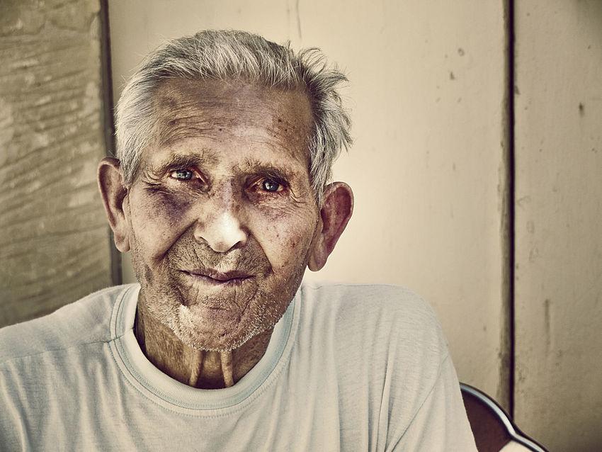 Kindness Happiness Smiling Wrinkles Gozo Malta Blue Eyes Old Man Old Man Portrait Portrait