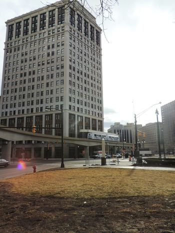 313 Branch Detroit Detroit Metro Detroit Michigan Detroitlove DetroitMichigan Highrise Iconic Buildings Lense Flare Michigan Overcast People Mover Pure Michigan Puremichigan Sunlight TheD Tourism