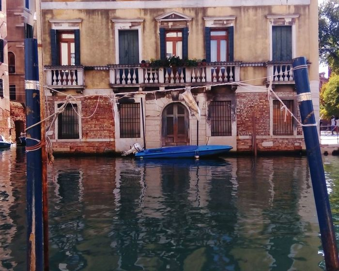 Venice, fondamenta Architecture Building Exterior Built Structure Water Reflection Travel Destinations No People Day Outdoors Boats Canals Venice, Italy Venice Italy Mode Of Transport Canals And Waterways Nautical Vessel Walls Venice View Venicelife Venice Canals Architecture Photography Veneto