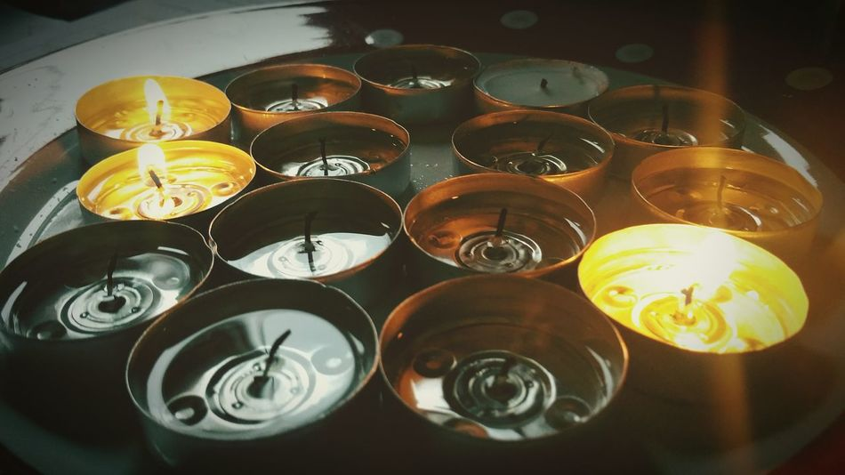 Tea Lights Wick Candles Candle Flame