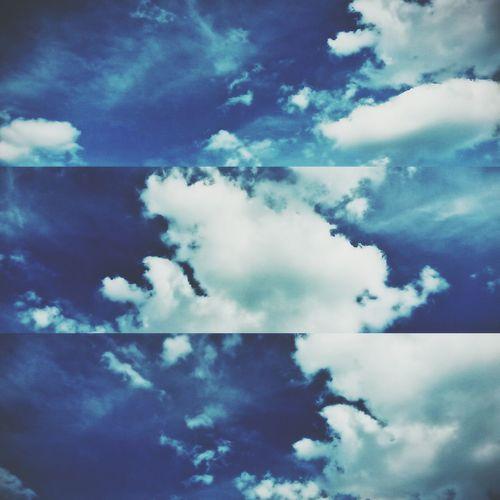 Blue Sky Clouds White Nature