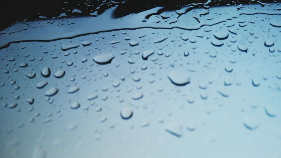 Window Reflections View Out My Window Rain Day Blue World Waterdrops Could Water