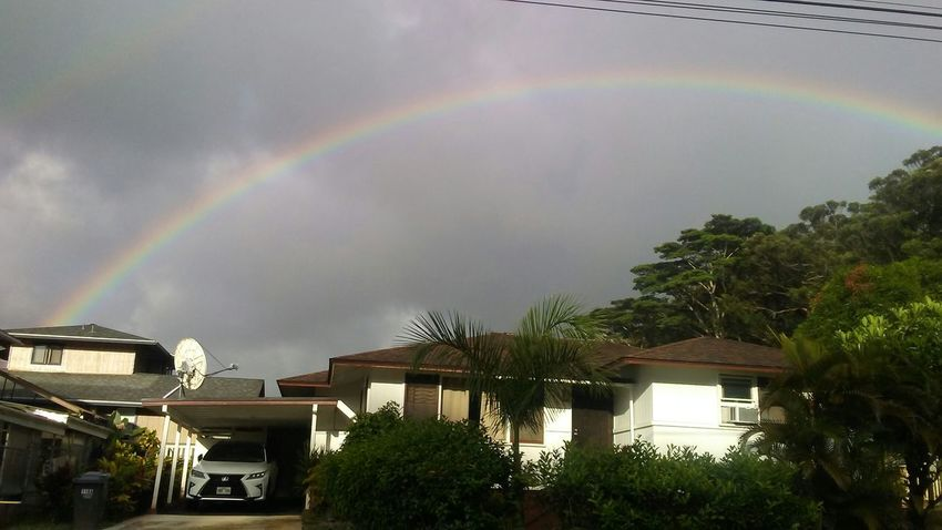 Multi Colored Rainbow Nature Tranquility Beauty In Nature Scenics Beauty Of Hawai'i Nature Outdoors Sky Cloud