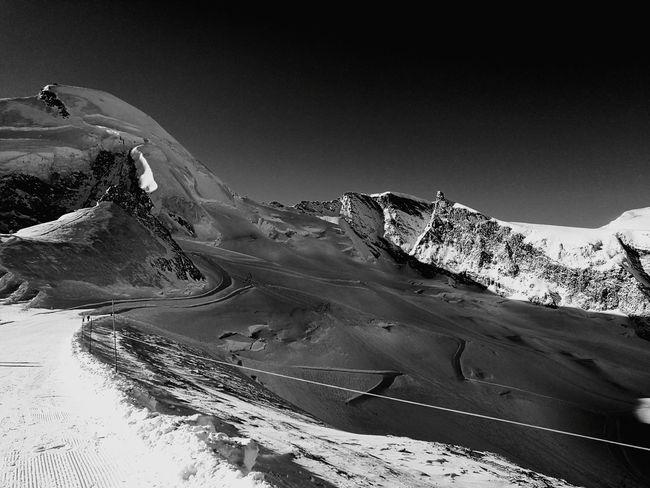 Blue Snow Winter Saasfee Switzerlandpictures