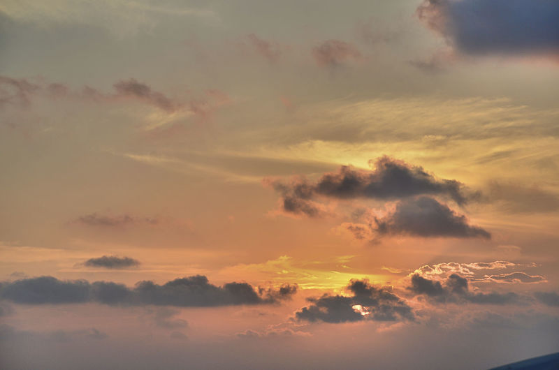 Sunset in Side Atmospheric Mood Beauty In Nature Cloud - Sky Cloudscape Dramatic Sky Full Frame Idyllic Low Angle View Meteorology Nature No People Orange Color Outdoors Scenics - Nature Sky Sunset Tranquil Scene Tranquility