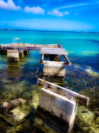 Hurricane Irma 2017 , Was my Dock Ramrod Key Florida Florida Keys Travel Destinations Hurricane Irma 2017 Key West Living Blue Day Nature No People Tranquility Outdoors Beauty In Nature Scenics Wave