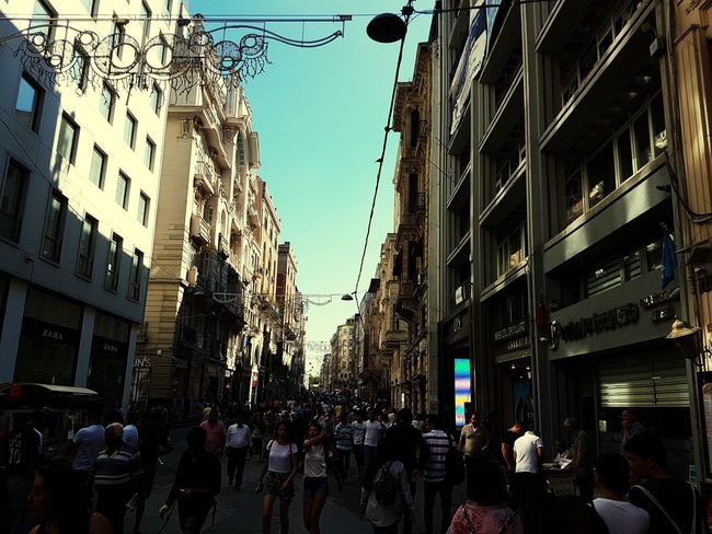 Istanbul shopping street Shops Shop Streetphotography Iatanbul Turkey City Sky Architecture Building Exterior Built Structure Building Pedestrian Crossing