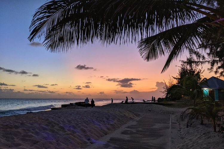 Scenic view of beach during sunset