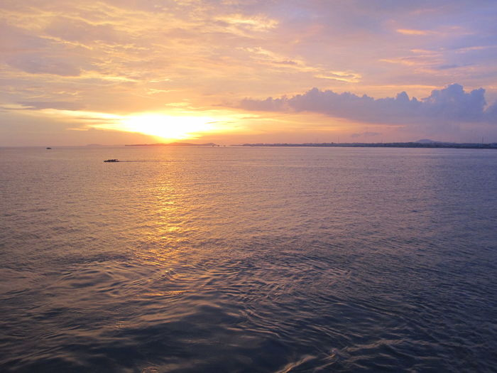 Sky Sunset Water Scenics - Nature Beauty In Nature Sea Cloud - Sky Tranquility Tranquil Scene Waterfront Horizon Horizon Over Water Orange Color Idyllic Nature No People Reflection Non-urban Scene Sun Outdoors INDONESIA Medan