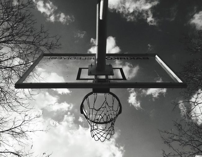 Sport Basketball Sky Clouds And Sky Clouds Blackandwhite Bnw Streetphotography The Graphic City