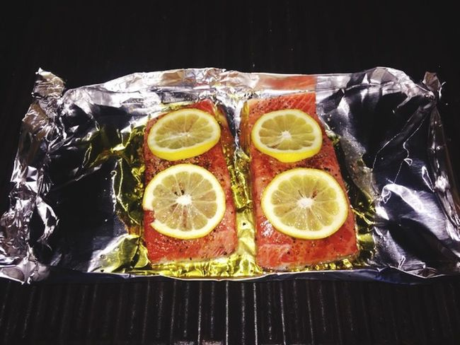 Grilledsalmon Lemon Wrapped In Aluminum Foil Delicious Food Photography Food Porn Awards