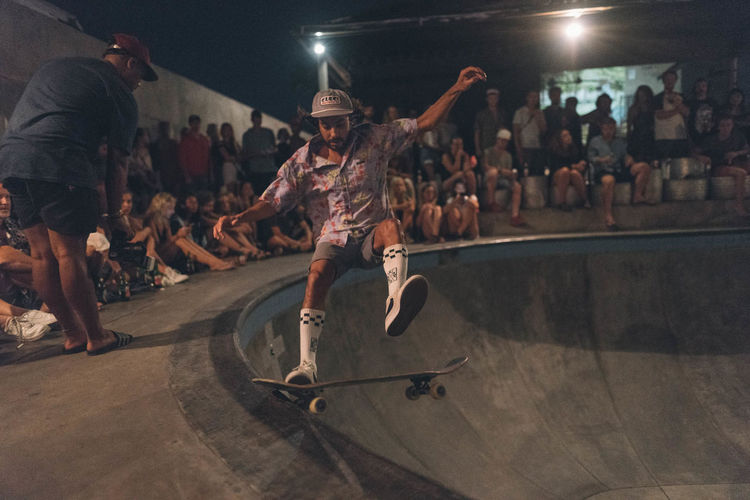 Skateboarding Skatepark Arms Raised Arts Culture And Entertainment Audience Crowd Dancing Excitement Large Group Of People Leisure Activity Lifestyles Men Motion Night Nightlife Performance Real People Skate Skateboard Skater Skill  Spectator Stunt Young Adult Youth Culture Done That.