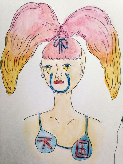 Art Girl Love Crazy Fashion Illustration Pink 天国