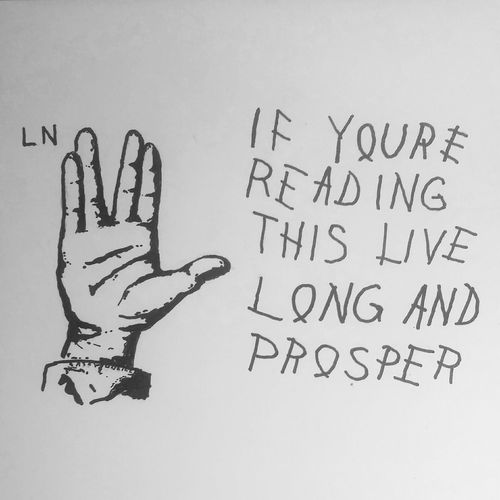 """Logic is the beginning of wisdom, not the end."" Leonard Nemoy Spock Leonardnemoy Startrek Ripspock Caseyoneillart Illustration Livelongandprosper Toronto Torontoartist"