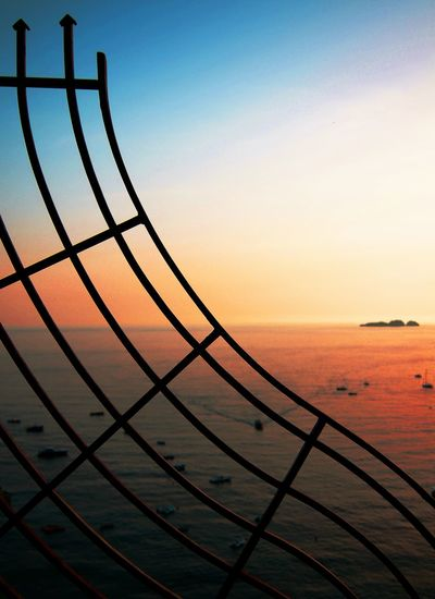 Metal Railing _ Collection Sunset Amalfi Coast Amalficoast Positano, Italy Positano Check This Out Italy Focus Photographic Memory Pattern Pieces Fine Art Photography On The Way Adventure Club Breathing Space