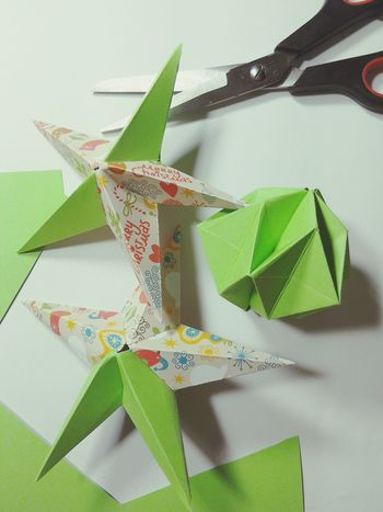 Handmade For You Paper Origami Christmas Decorations Starshape Scissors