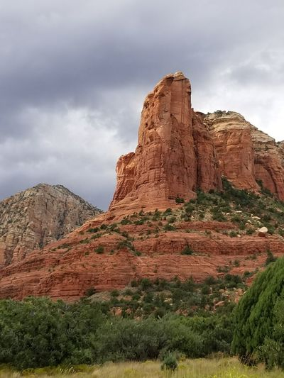 Rock - Object Rock Formation Travel Destinations Landscape Geology Nature Desert Beauty In Nature Cloud - Sky Scenics Rural Scene Outdoors Sky Nature Reserve No People Sunset Day Grass Solitude And Silence Desert Landscape Sedona, Arizona Desert Redrockcanyon NoEdits  Beauty In Nature
