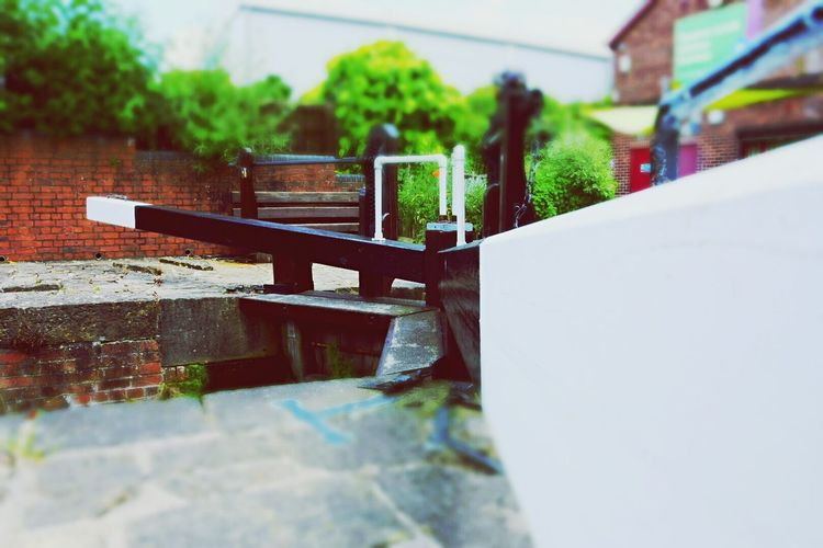 Chesterfield canal. Chesterfield Canal Water Lock Miniature Small