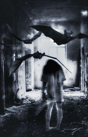 Spooky Ghost Depression - Sadness Domestic Room Mystery Dark