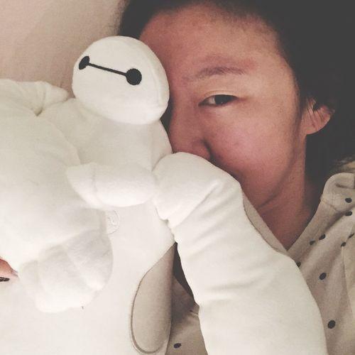 Baymax Love Sleeping Enjoying Life Simple Life HongKong Girl Selfportrait Selfie Check This Out